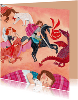 Beterschapkaart draken, beren,prinsessen en heldin