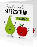 Beterschapkaart met appel en peer