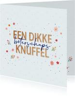 Beterschaps knuffel - dots and flowers - beterschapskaart