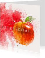 Beterschapskaart aquarelverf appel