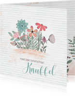 Beterschapskaart bloemenillustratie