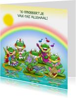 Beterschapskaart diverse opkikkertjes met regenboog