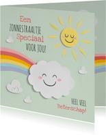 Beterschapskaart een zonnestraaltje speciaal voor jou wolkje