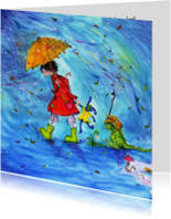 Beterschapskaarten - Beterschapskaart enen regenachtige dag!