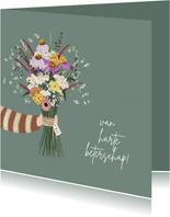 Beterschapskaart fleurige bos bloemen