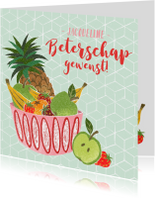 Beterschapskaart fruit abstracte stijl
