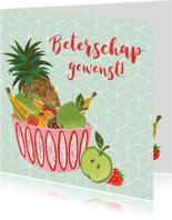 Beterschapskaart fruit abstracte stijl