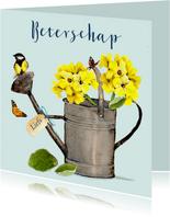 Beterschapskaart Gieter met geel vogeltje