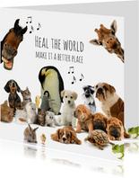 Beterschapskaart heal the world dieren