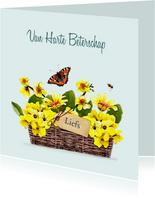 Beterschapskaart Mand met gele bloemen