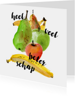 Beterschapskaart met fruit illustratie