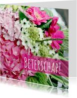 Beterschapskaart roze&wit