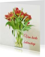 beterschapskaart vaas tulp - LB
