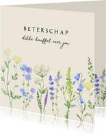 Beterschapskaart veldbloemen