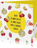 Beterschapskaart zonnig fruit