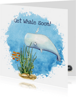 Beterschapskaarten Get whale soon