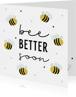 Beterschapskaartje met schattige bijtjes