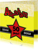 BIERTJE Felicitatie kaart ABRAHAM