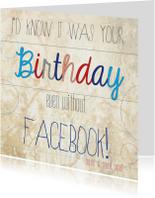 Verjaardagskaarten - Birthday Facebook