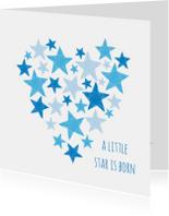 Blauw hart met sterren