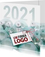 Blauwe kerstballen 2021
