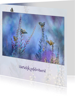 Blauwe vlinder-fantasie