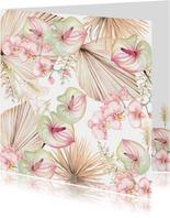 Bloemen blad in pastel