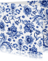 Bloemen delfts blauw