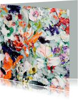 Bloemen geschilderd zomers -vk