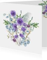 Bloemen in paars eucalyptus