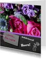 Bloemen krijtbord