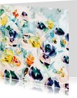 Bloemen kunst print vk