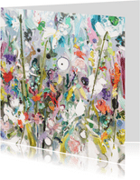 Bloemen oever schilderkunst