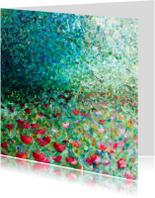 bloemen schilderij Weelde