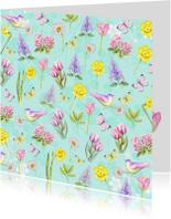 bloemen voorjaar aquarel