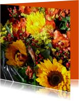 Bloemen zonnig Herfstboeket
