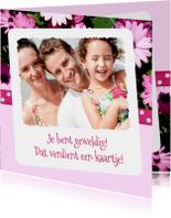 Bloemenbedankkaart Margriet - BK