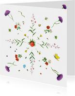 Bloemenkaart De allermooiste bloemen