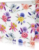 Bloemenkaart droogbloemen