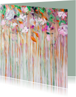 Bloemenkaart kunst mist