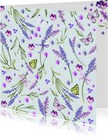 Bloemenkaart lavendel zomer