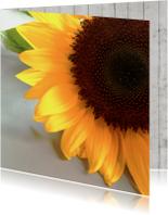Bloemenkaart met zonnebloem