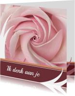 Bloemenkaart rozeroos balk