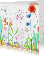 Bloemenkaart voor elk feest