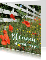 Bloemenkaart - Wilde bloemen