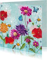 Bloemkaart wilde bloemen voor jou.