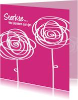 Bloempjes Sterkte roze