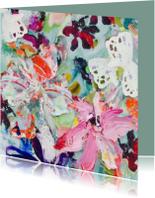 Bloemschilderij print boeket