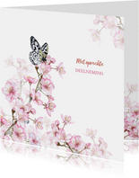 Bloesemtakken voorjaar vlinder