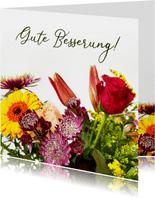 Blumenkarte Gute Besserung